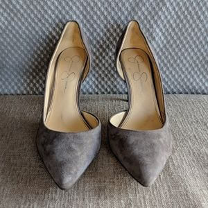 7c97a3563f2 Jessica Simpson Smoke Lux Kid Suede Pumps